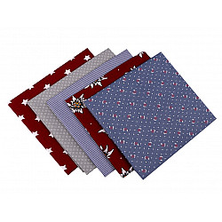 Set 5 materiale textile pentru patchwork, 48x50 cm - Mix-87