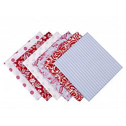 Set 6 materiale textile pentru patchwork, 44x44 cm- Mix-12