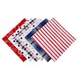 Set 6 materiale textile pentru patchwork, 44x44 cm- Mix-15