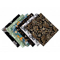 Set 6 materiale textile pentru patchwork, 44x44 cm- Mix-16