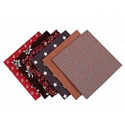 Set 6 materiale textile pentru patchwork, 44x44 cm- Mix-18