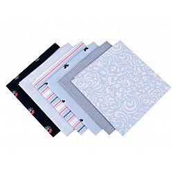 Set 6 materiale textile pentru patchwork, 44x44 cm- Mix-19