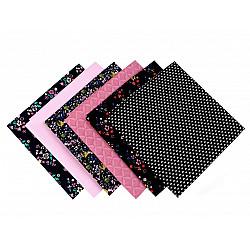 Set 6 materiale textile pentru patchwork, 44x44 cm- Mix-20