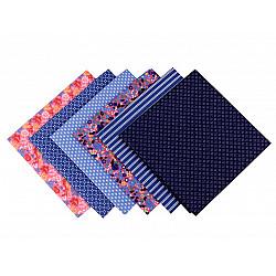 Set 6 materiale textile pentru patchwork, 44x44 cm- Mix-21