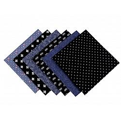 Set 6 materiale textile pentru patchwork, 44x44 cm- Mix-23