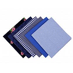 Set 6 materiale textile pentru patchwork, 44x44 cm- Mix-3