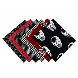 Set 6 materiale textile pentru patchwork, 44x44 cm- Mix-5