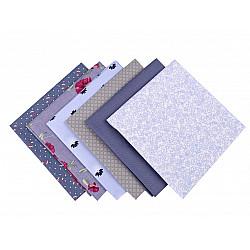 Set 6 materiale textile pentru patchwork, 44x44 cm- Mix-6