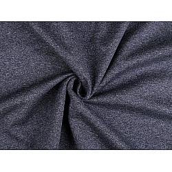 Țesătură Softshell de iarnă, ușor elastică, la metru - albastru inchis