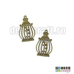 Pandantiv bronz -Colivie, 2buc.
