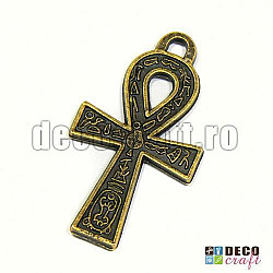 Pandantiv bronz - Nodul lui Isis, 1buc.