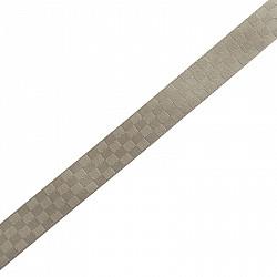 Panglica decorativa 8 mm - Gri in patratele