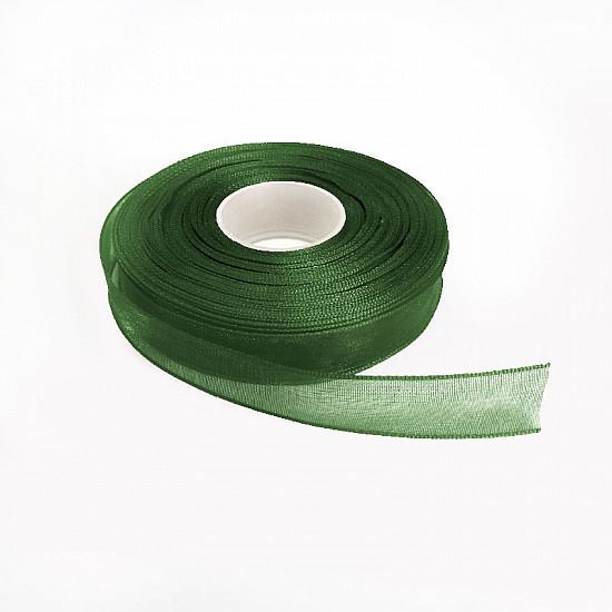 Panglica organza 0.6 cm - Verde inchis