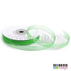 Panglica organza 1.3cm - Verde, 5m