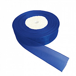 Panglica organza, 2.5 cm - Albastru
