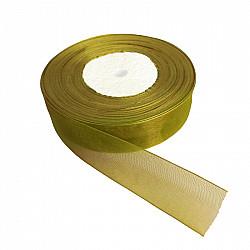 Panglica organza, 2 cm - Verde lime