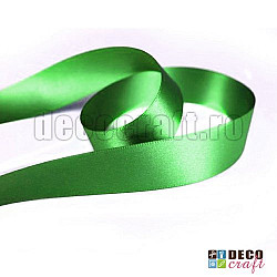 Panglica satin 2.5cm - Verde, 2m