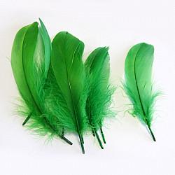 Pene de gasca - Verde, 10 buc
