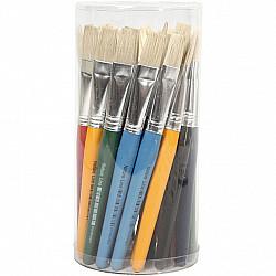 Pensula de vopsea pentru copii, L: 15 mm, L: 19 cm, plata, 1 Buc.