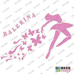 Sablon A4 - Balerina - 21x29.7 cm