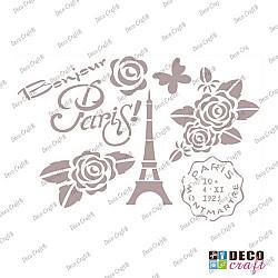 Sablon A4 - Bonjour Paris! - 21x29.7 cm