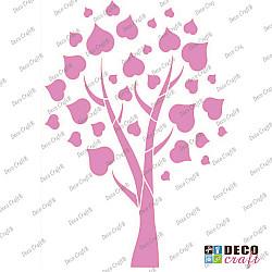 Sablon A4 - Copacel cu frunze - 21x29.7 cm