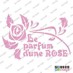 Sablon A4 - Le parfum d\\\'une ROSE - 21x29.7 cm