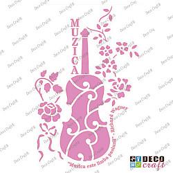 Sablon A4 - Muzica si pasiune - 21x29.7 cm
