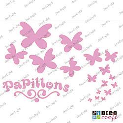 Sablon A4 - Papillon - 21x29.7 cm
