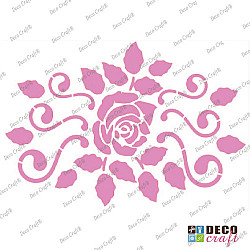 Sablon A4 - Trandafir elegant - 21x29.7 cm