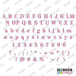 Sablon A5 - Alfabet si cifre 1 - 14.5x21 cm