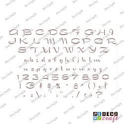 Sablon A5 - Alfabet stilizat - 14.5x21 cm
