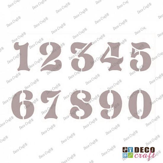 Sablon A5 - Cifre mari - 14.5x21 cm