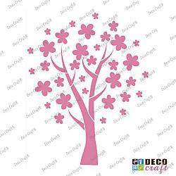 Sablon A5 - Copac cu flori - 14.5x21 cm