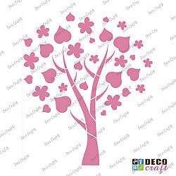 Sablon A5 - Copac cu flori si frunze - 14.5x21 cm