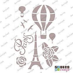 Sablon A5 - Cu balonul in Paris - 14.5x21 cm