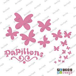 Sablon A5 - Papillons - 14.5x21 cm