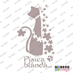 Sablon A5 - Pisica blanda - 14.5x21 cm