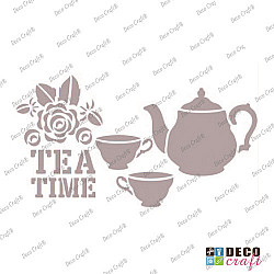Sablon A5 - Tea Time - 14.5x21 cm