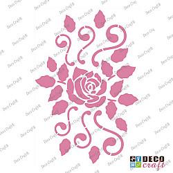 Sablon A5 - Trandafir elegant - 14.5x21 cm