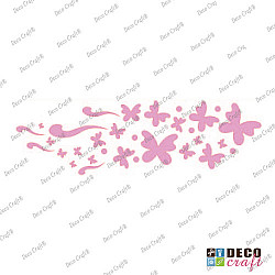 Sablon bordura - Bordura cu fluturi - 21x7 cm
