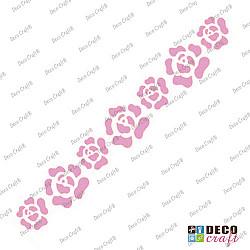 Sablon bordura - Bordura cu trandafiri - 29x7 cm