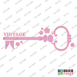 Sablon bordura - Cheie vintage - 21x7 cm