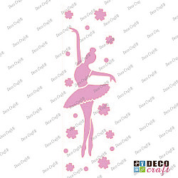 Sablon bordura  - Dansul balerinei - 21x7 cm