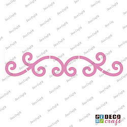 Sablon bordura - Ornament simplu - 21x7 cm