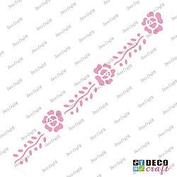 Sablon bordura - Siragul trandafirilor - 29x7 cm