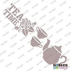 Sablon bordura - Tea Time - 21x7 cm