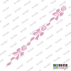 Sablon bordura - Trandafir cu funda - 29x7 cm