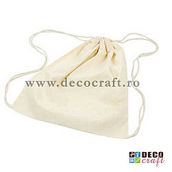 Sac textil natural, 37x41 cm