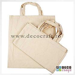 Sacosa textil natural, 38x42 cm